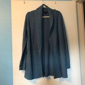 H by halston blue cardigan with pockets size small